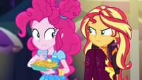 Pinkie notices Sunset glaring at her EGSBP