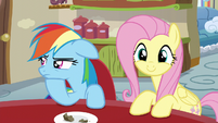 Rainbow beyond annoyed; Fluttershy excited S6E11