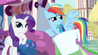 Rarity & Rainbow Dash thinking about it S3E11