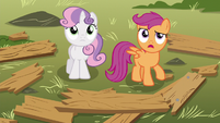 Scootaloo -why'd you want to meet here-- S5E4