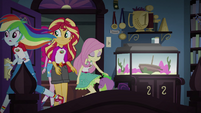 Sunset and friends enter Twilight's room EG4