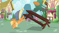 Applejack bucking the table S2E06