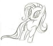 Fluttershy surprised sketch