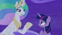 "Princess Celestia ""I don't know about that"" S8E7"