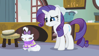 Rarity d'awwing at Opalescence S2E5