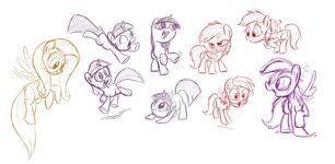 Sabrina Alberghetti August 2011 pony sketches
