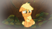 Young Applejack at bottom of pit S9E10