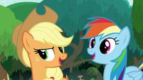 "Applejack and Rainbow Dash ""right!"" S8E9"