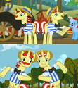 FANMADE Flim Flam brothers switched cutie marks S2E15