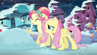 Fluttershy helps out the Crystal pony S6E2