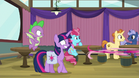 Pinkie Pie zooms away from Twilight S9E16