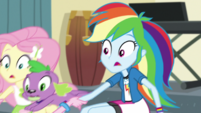 Pinkie pulls on Fluttershy and Rainbow Dash EGS1