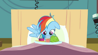 Rainbow Dash trying to drink S2E16