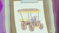 Sweetie Belle's cart design sketch S6E14