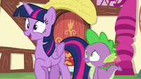 Twilight excitedly bouncing up and down S6E22