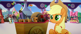 Applejack wearing a blank stare MLPTM