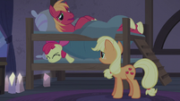 Big Mac smothers Apple Bloom from the top bunk S5E20