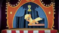 Cardboard cutout of filly Applejack BFHHS4