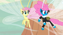 Seabreeze and Breezie Fluttershy looking behind S4E16