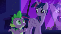 Spike list all the names of Twilight's old friends S5E12