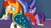 Sunburst pacing back and forth S7E24