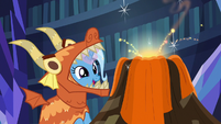 Trixie making special effects for Dragon Pit S7E24