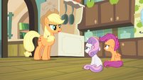 AJ 'Rarity's on her way here to look after you two' S4E17