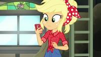 Applejack hears her phone ring EGROF