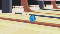 Bowling ball goes back S5E9