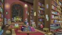 Interior view of Sire's Hollow bookstore S8E8