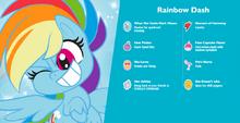 MLP Pony Life Rainbow Dash Hasbro.com character bio