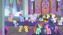 Ponies and creatures together at the school S8E1