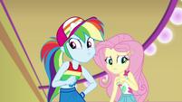 Rainbow Dash super-wary; Fluttershy confused EGSB