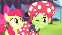 Apple Bloom smiling and Granny winking S4E20