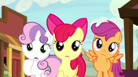 Cutie Mark Crusaders worried S5E6