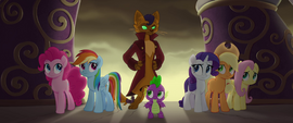 Main five and Spike looking back at Capper MLPTM