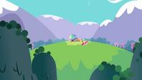 Main ponies having a picnic S3E7
