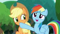 "Rainbow correcting Applejack ""field trip?"" S8E9"