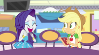 Rarity laughing with excitement EGROF