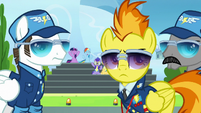 Spitfire and instructors looking at Sky and Vapor S6E24