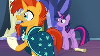 "Sunburst ""known each other since we were foals"" S7E24"