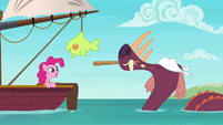 The bunyip has party fun with Pinkie Pie S6E22
