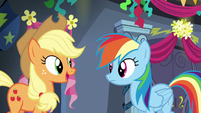 """Applejack """"can't wait to hear all about it"""" S6E7"""