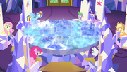 Mane six looking at the map S5E1.png