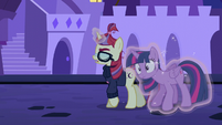 Moon Dancer moves Twilight behind her S5E12