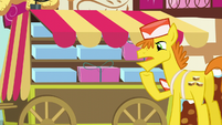 Mr. Cake -Maybe I should hire somepony to be my backup delivery pony- S5E19
