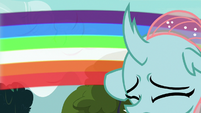 Ocellus gets saved by a rainbow blur S8E2
