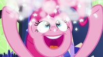 Pinkie Pie tossing around sparkly glitter S7E26