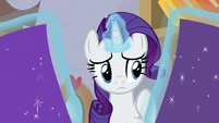 Rarity deciding between two shades of purple S9E19