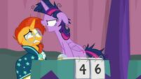 Twilight Sparkle yelling at Sunburst S9E16